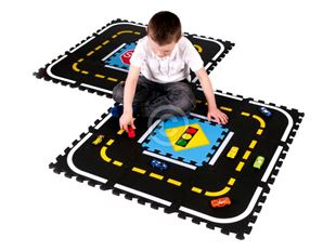 Obrázok Detský koberec puzzle dráha