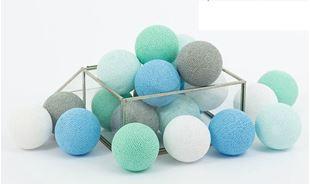 Obrázok Svietiace guličky - Mint pastel