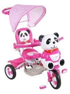 Obrázok Detská trojkolka s vodiacou tyčou Arti - Panda