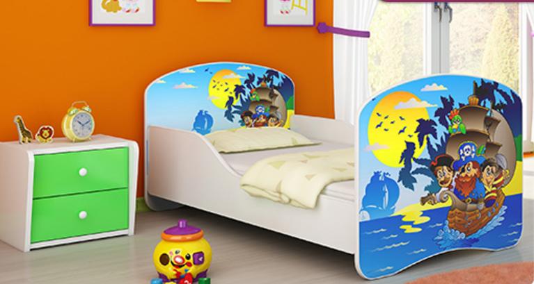 983df3c11d5c7 Dětská postel - Piráti - 180x80 cm. Bambulin.sk - hračky, potreby a ...