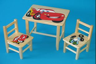 Obrázok Detský drevený stôl so stoličkami - Cars