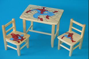 Obrázok Detský drevený stôl so stoličkami - Spider Man