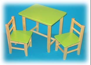 Obrázok Detský drevený stôl so stoličkami - Rôzne farby
