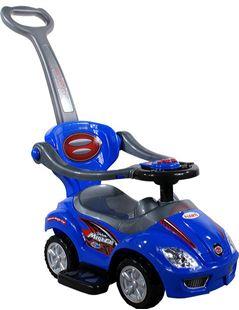 Obrázok Odrážedlo Mega Car s vodící tyčí + multifunkční volant
