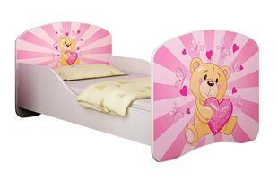 Obrázok Detská posteľ - Ružový Teddy medvedík