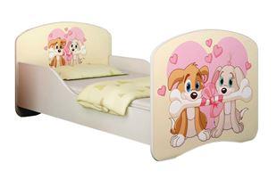 Obrázok Detská posteľ - Zamilovaní psíkovia