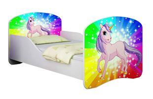 Obrázok Detská posteľ - Poník jednorožec dúha