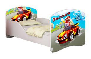 Obrázok Detská posteľ - Závodné auto + meno
