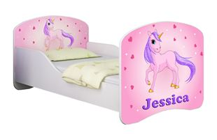Obrázok Dětská postel - Poník jednorožec + jméno