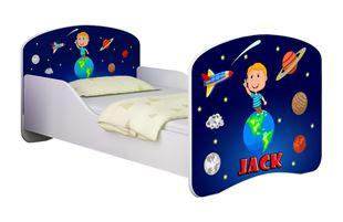Obrázok Dětská postel - Vesmír + jméno