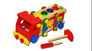 Obrázok Drevené autíčko s náradím