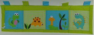 Obrázok Vreckár za posteľ 160x50cm - Dinosaury 2