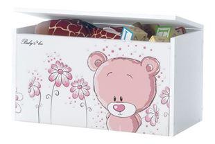 Obrázok Truhla na hračky - Ružový medvedík