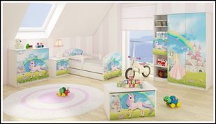 Obrázok Truhla na hračky - Rozprávková krajina