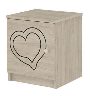 Obrázok Nočný stolík Srdce