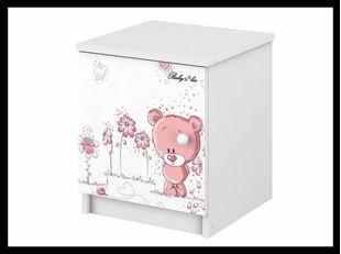 Obrázok Nočný stolík Ružový medvedík