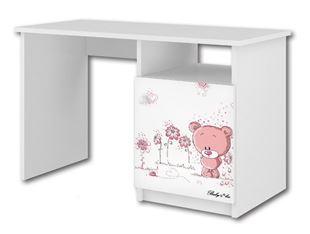 Obrázok Písací stôl Ružový medvedík
