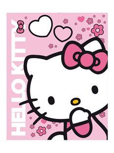 Obrázok Detská obojstranná auto deka Hello Kitty 120x150 cm