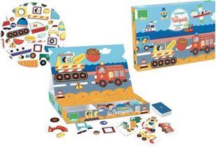 Obrázok Drevená hra- Skladacie magnetická tabuľka Doprava