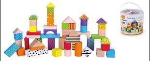 Obrázok Dřevěné kostky s motivem 50 kusů