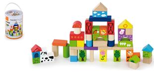 Obrázok Dřevěné kostky 50 kusů  - FARMA