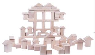 Obrázok Dřevěné kostky 100 kusů - Přírodní