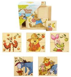 Obrázok Dřevěné puzzle - Medvídek Pú