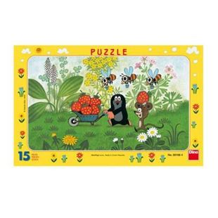 Obrázok Papírové puzzle 15 dílků Krtek na výletě