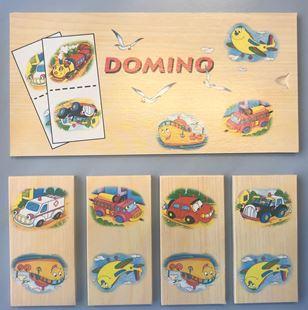 Obrázok Dřevěné domino - dopravní prostředky