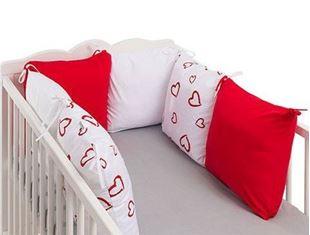 Obrázok Vankúšikový mantinel Love - Červená