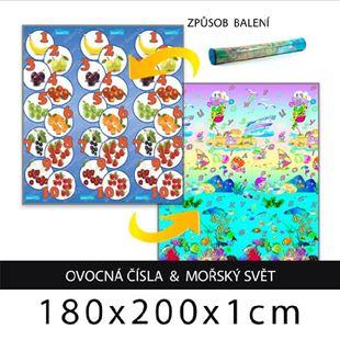 Obrázok Detský penový koberec - ovocná čísla + morský svet 180x200x1cm