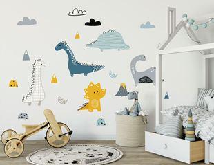 Obrázok Dekorácia na stenu Dinosauri