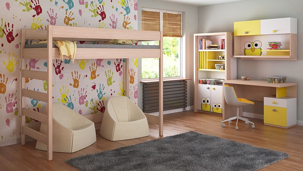 8573c2c4a3b0d Detská vyvýšená posteľ - Hugo rebrík z boku - 200x90cm. Bambulin.sk ...