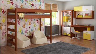 Obrázok z Detská vyvýšená posteľ - Hugo rebrík z boku - 180x80cm