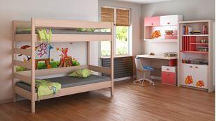 Obrázok Detská dvojposchodová posteľ Diego rebrík z boku - 180x90cm