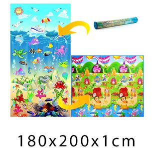 Obrázok Detský penový koberec - Oceán + Domček leva 200x180x1cm