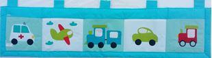 Obrázok Vreckár za posteľ 200x50 cm - Dopravné prostriedky