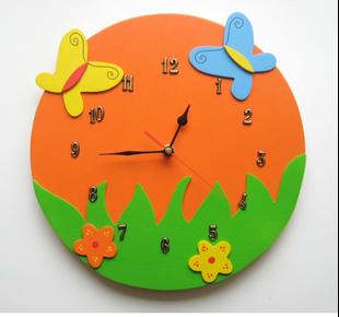 Obrázok Detské drevené hodiny Veselá lúka