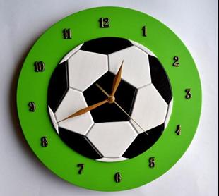 Obrázok Detské drevené hodiny Futbal