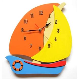 Obrázok Detské drevené hodiny Plachetnica - Mix farieb