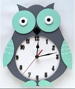 Obrázok Detské drevené hodiny Sova