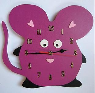 Obrázok Detské drevené hodiny Myš