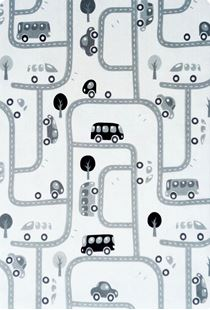 Obrázok Detský koberec MILUJEME HRU - čierno-biely 90x130 cm