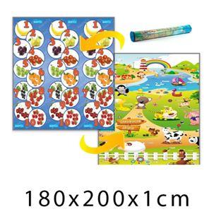Obrázok Detský penový koberec Ovocná čísla + Farma 180x200x1 cm