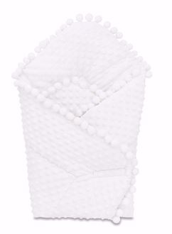 Obrázok z Zavinovačka s brmbolcami Minky - Biela