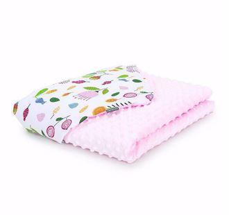 Obrázok z Detská deka Lúka Minky 75x100 cm - Ružová - rôzne varianty