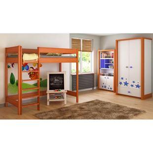 Obrázok Detská vyvýšená posteľ - Hugo rebrík spredu - 180x90cm