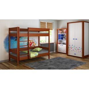 Obrázok Detská dvojposchodová posteľ Diego rebrík spredu - 180x90cm
