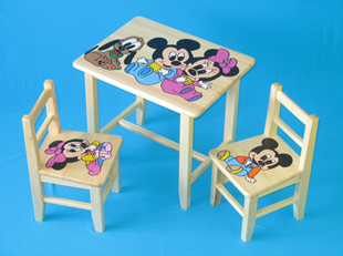 Obrázok Detský drevený stôl so stoličkami - mini Mickey Mouse