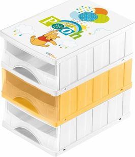 Obrázok Boxy na hračky - súprava 3 šuplíkov MACKO PÚ